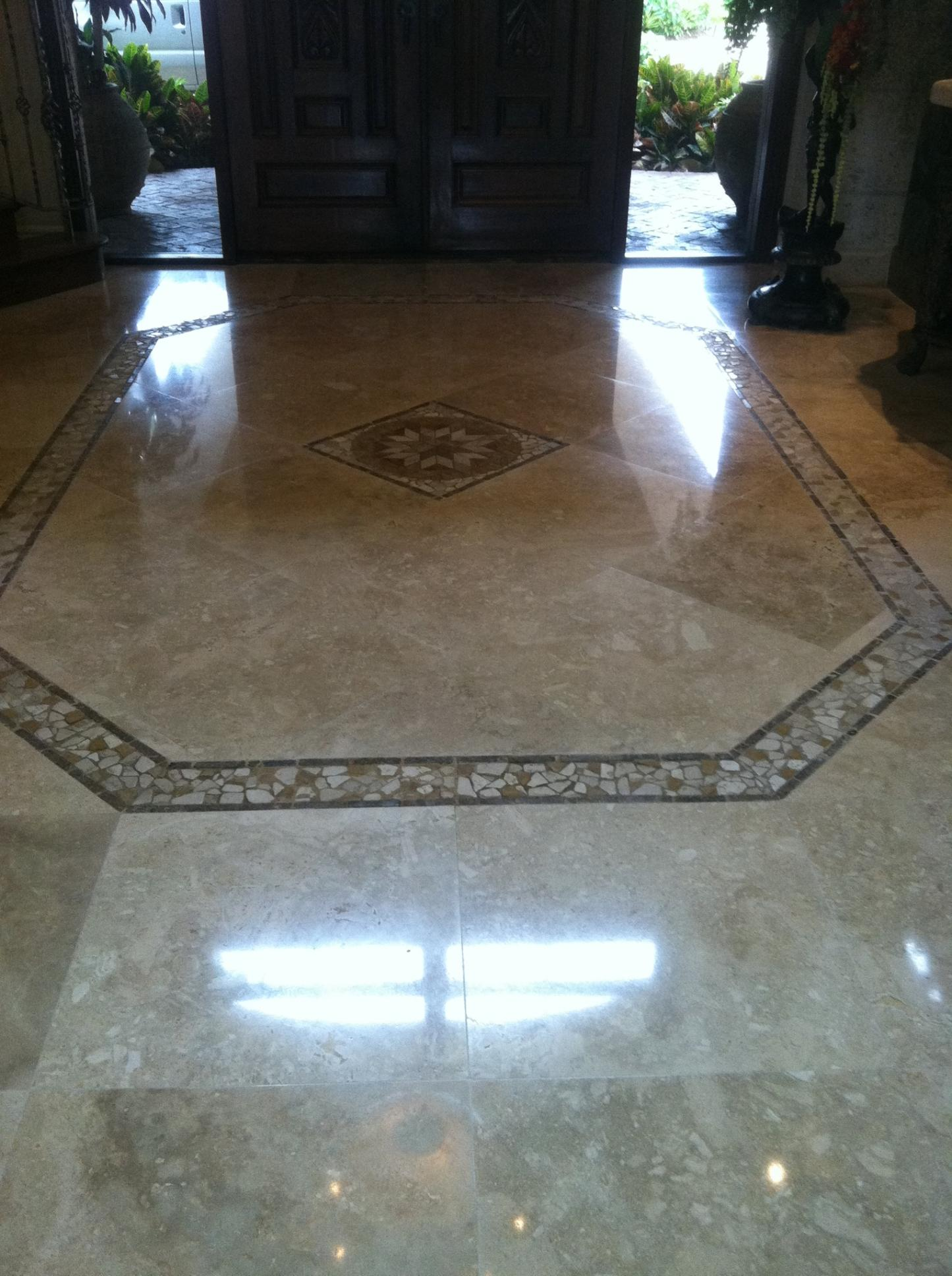 Marble Polishing By Sterling Cleaning In Palm Beach