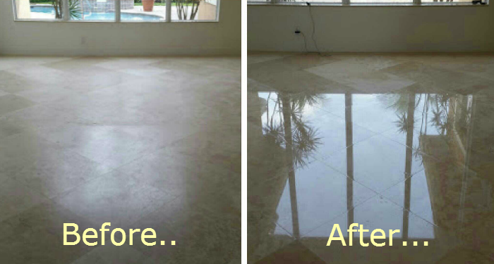 Marble Floor Polishing and Honind Cleaning - Palm Beach Gardens, FL - Sterling Cleaning