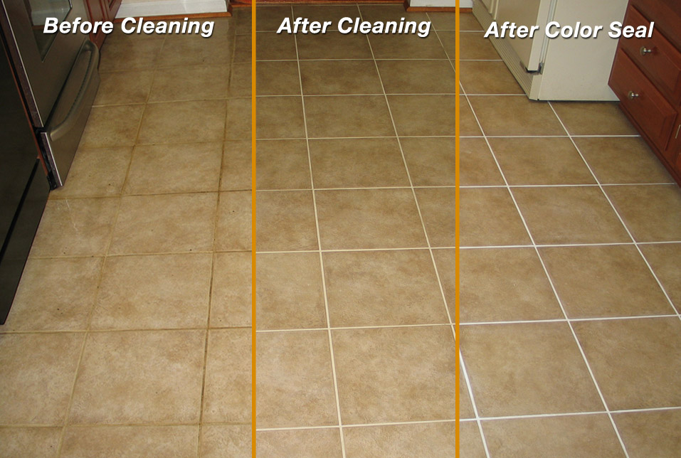 Before After Tile Grout Color Sealer Marble Polishing Palm Beach